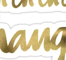 Bowie – Gold Ink Sticker