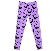 Pastel Goth Vampire Bats (Purple / Black) Leggings