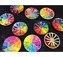 Rainbow Clocks Photographic Print