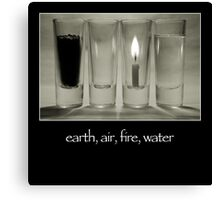earth, air, fire, water Canvas Print
