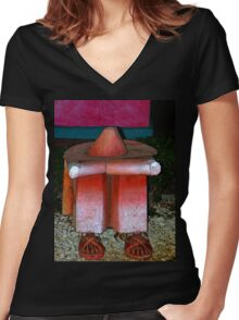 A Siesta In Santiago - Panama Women's Fitted V-Neck T-Shirt