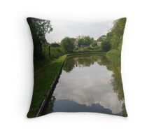 Llangollen Canal near Pontcysyllete, Wales. Throw Pillow