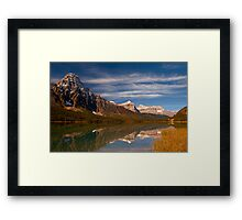 Waterfowl Lakes, reflection, Icefields Parkway NP, Alberta, Canada. Framed Print