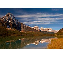 Waterfowl Lakes, reflection, Icefields Parkway NP, Alberta, Canada. Photographic Print