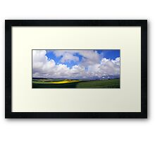 Southdowns Panorama Framed Print