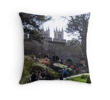 Lincoln Castle 10k run Throw Pillow