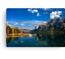 Lake Minnewanka. Banff National Park, BC, Canada. Canvas Print