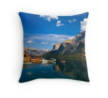Lake Minnewanka. Banff National Park, BC, Canada. Throw Pillow