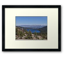 Surrounded by mountains Framed Print
