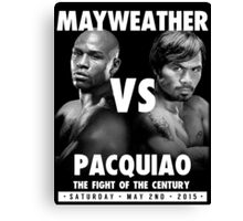 Floyd Money Mayweather VS Manny Pacman Pacquiao May 2nd 2015 Canvas Print