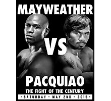 Floyd Money Mayweather VS Manny Pacman Pacquiao May 2nd 2015 Photographic Print