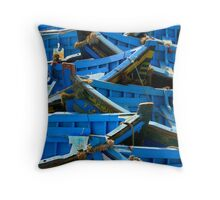 puzzle boats Throw Pillow