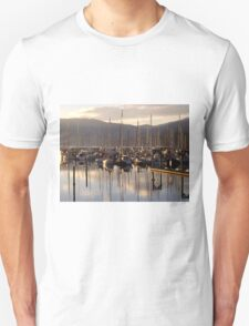 The boats wake up at John Wayne Marina Unisex T-Shirt