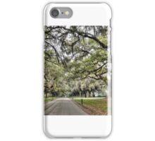 Boone Hall Plantation Way  iPhone Case/Skin
