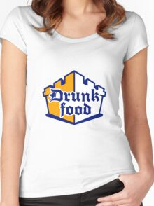 Drunk Food Women's Fitted Scoop T-Shirt