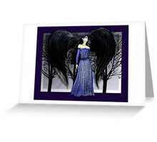 Dark Raven Angel Fantasy art Greeting Card