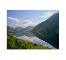 The Lake District: Wast Water Reflections 2. Art Print