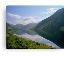 The Lake District: Wast Water Reflections 2. Canvas Print
