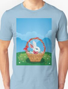 Easter Bunny with Eggs in the Basket 3 T-Shirt