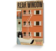 Rear Window alternative movie poster Greeting Card