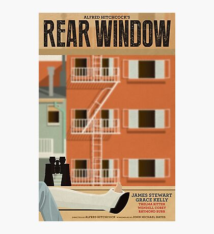 Rear Window alternative movie poster Photographic Print