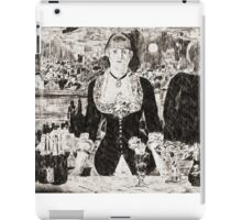 """From a carbon paper trace monotype after Edouard Manet's """"A Bar at the Folies-Bergere."""" iPad Case/Skin"""