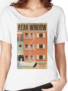 Rear Window alternative movie poster Women's Relaxed Fit T-Shirt