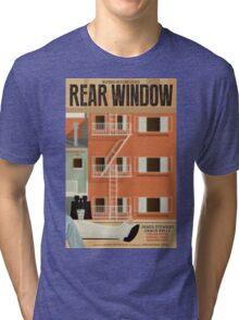 Rear Window alternative movie poster Tri-blend T-Shirt