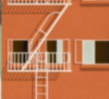 Rear Window alternative movie poster Sticker