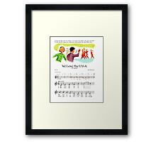 We Love the USA, Independence Day, March John Philip Sousa Framed Print