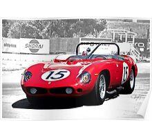 1961 Ferrari 250 TR61 Rosso Corsa Poster