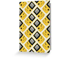 Gameboy Color (YELLOW) Greeting Card