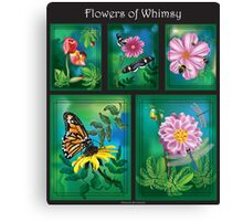 Flowers of Whimsy (A Compilation of Illustrations) Canvas Print