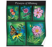 Flowers of Whimsy (A Compilation of Illustrations) Poster