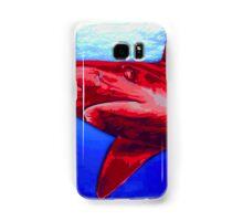 Blue and Red Shark art Samsung Galaxy Case/Skin