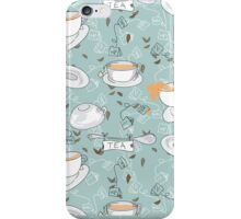 Tea Toss Cups and Saucers Pattern  iPhone Case/Skin