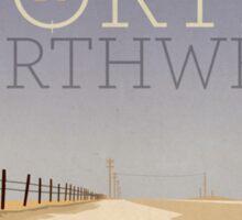 North by Northwest alternative movie poster Sticker