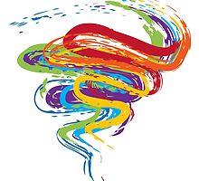 Grunge Rainbow 3 by AnnArtshock