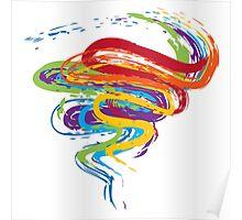 Grunge Rainbow 3 Poster