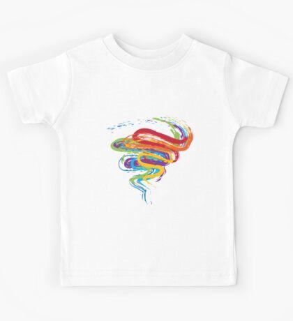 Grunge Rainbow 3 Kids Tee
