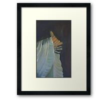 Blessing a religions hand gesture Framed Print