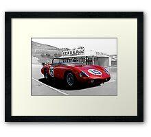 1961 Ferrari 250 TR61 Rosso Corsa Framed Print