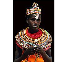 SAMBURU GIRL - KENYA 2 Photographic Print