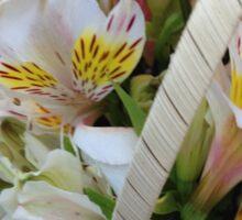 May Flower Basket Sticker