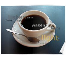 a small cup of coffee Poster