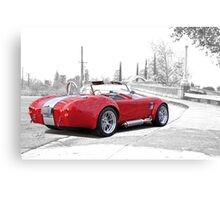 1965 Shelby Cobra 'Crossing Over' Canvas Print