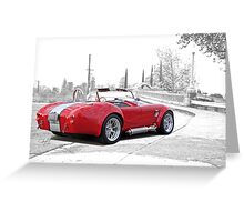 1965 Shelby Cobra 'Crossing Over' Greeting Card