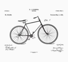 Patent: O Connor, Bicycle - Black Ink Kids Clothes