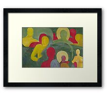 Abstract people in color Framed Print
