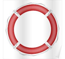 Red Life Buoy  Poster